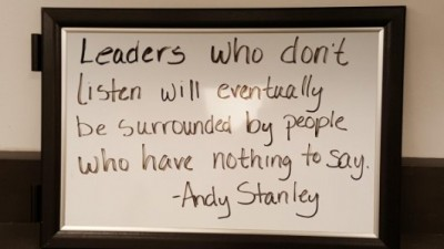 Leaders who don't listen...