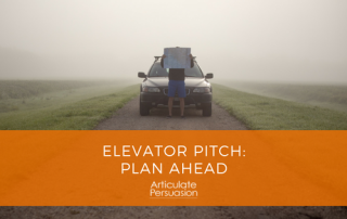 Elevator Pitch: Plan Ahead