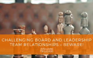Challenging Board Leadership Relationship