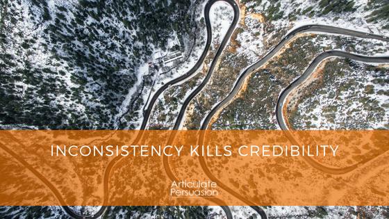 Inconsistency kills Credibility
