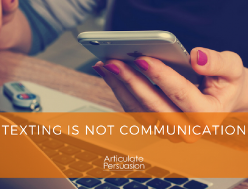 Texting is Not Communication