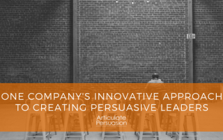 One company's innovative approach to creating persuasive leaders